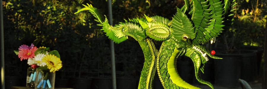 photo of the palm leaf Naga from the 2013 Kathina celebration